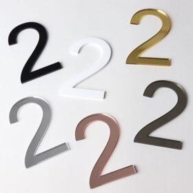 Perspex Panels 75mm Arial Numbers 3