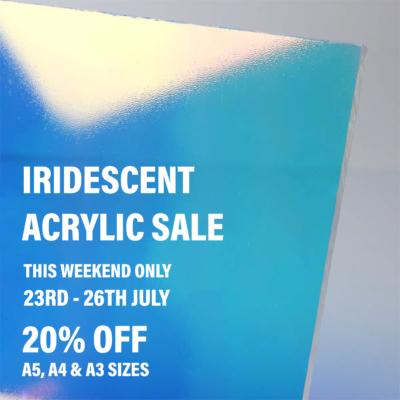 Perspex Panels Iridescent acrylic sale
